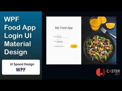 WPF Food App Login UI Material Design [Speed Design]