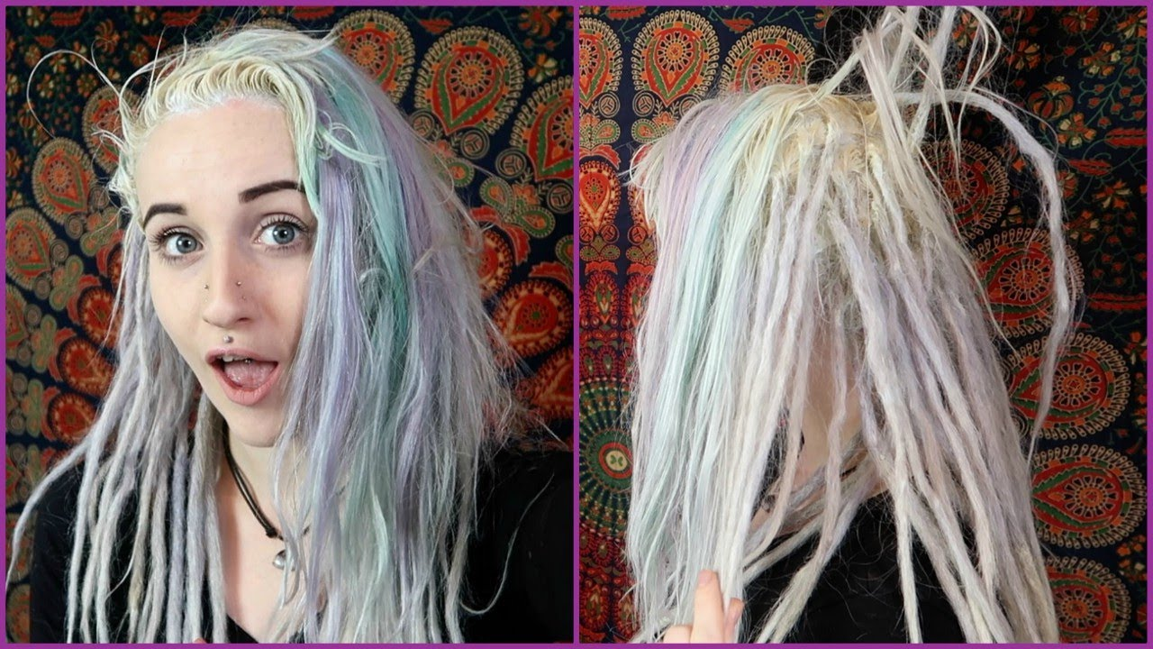 95f512e5642392 Bleaching My Hair With Partial Dreadlocks - YouTube