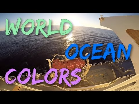 Цвета воды Мирового Океана/Different water colours in World Ocean