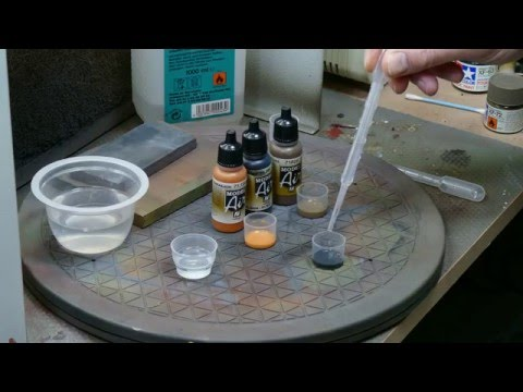 How to make washings with acrylic paints