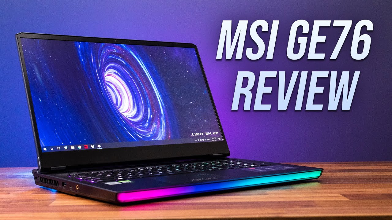 MSI's Most Powerful Gaming Laptop - GE76 Review