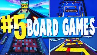 TOP 5 BEST BOARD GAMES Creative Maps In Fortnite | Fortnite Board Game Map CODES