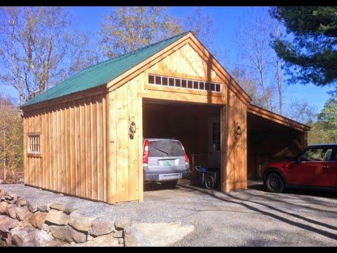 One Bay Garage With Loft Build Garage With Loft Diy Pre Cut Kits 14x20 16x30 Youtube