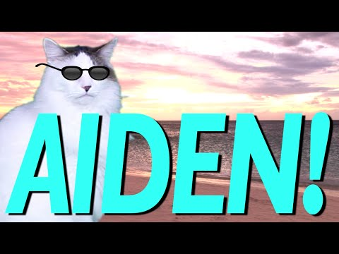 HAPPY BIRTHDAY AIDEN! - EPIC CAT Happy Birthday Song