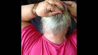 Watch Carole's hands as she does each hair style with a Comb