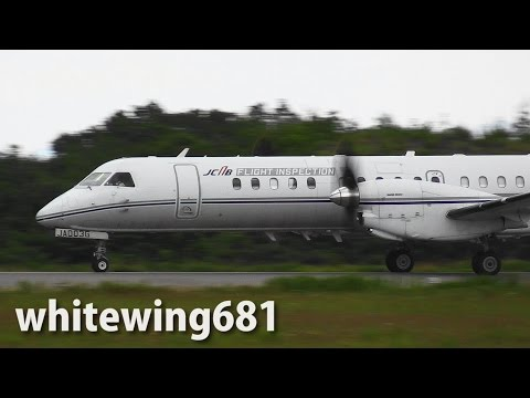 [Flight Inspection Aircraft] JCAB Saab 2000 JA003G TAKE-OFF NOTO Airport 能登空港 2015.6.10