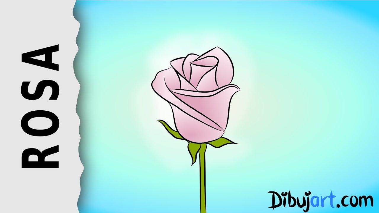 Cómo dibujar una Rosa #4 - Serie de dibujos de Rosas - YouTube