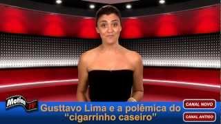 """Flagra: Gusttavo Lima e a foto polêmica com o """"cigarrinho caseiro"""""""