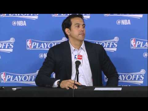 Erik Spoelstra -- Miami Heat at Charlotte Hornets Game 4 04/25/2016