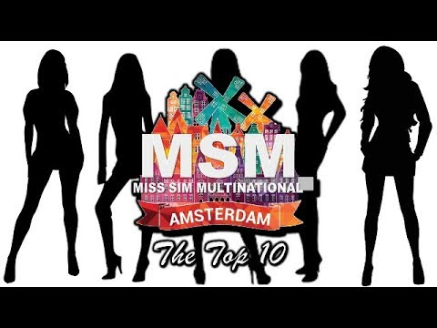 Miss Sims Multinational 2017 TOP 10