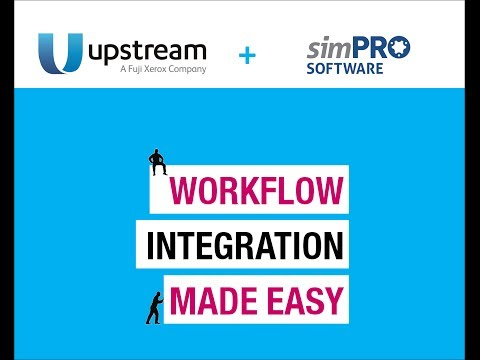 Upstream solutions Integrates with Simpro Software