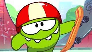 Om Nom Stories S06-E07 | chơi khăm | phim hoạt hình cho trẻ em | ếch xanh | Skateboarding Video Blog