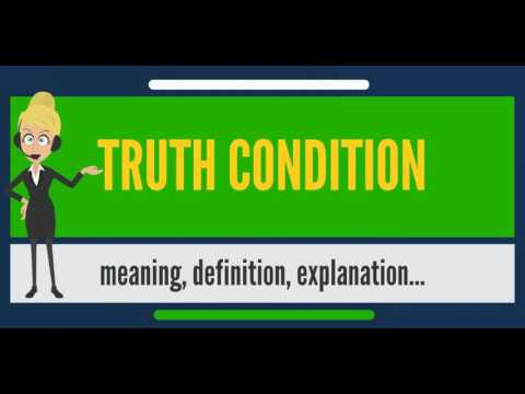 What is TRUTH CONDITION? What does TRUTH CONDITION mean? TRUTH CONDITION meaning & explanation