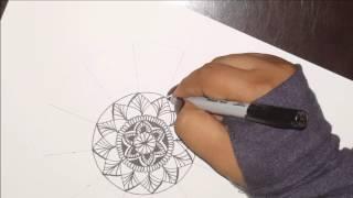 HOW TO DRAW Mandala Basic Shapes/Formas basicas 2/Espanol & English