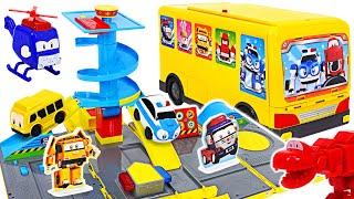Teenie Scouts Big Five Transform kindergarten bus! Police car, dinosaur! Boarding! | DuDuPopTOY