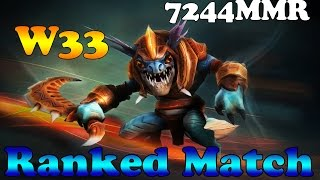 Dota 2 - w33 top 1 mmr europe PROfessional Slark vol 1# - Ranked Match!