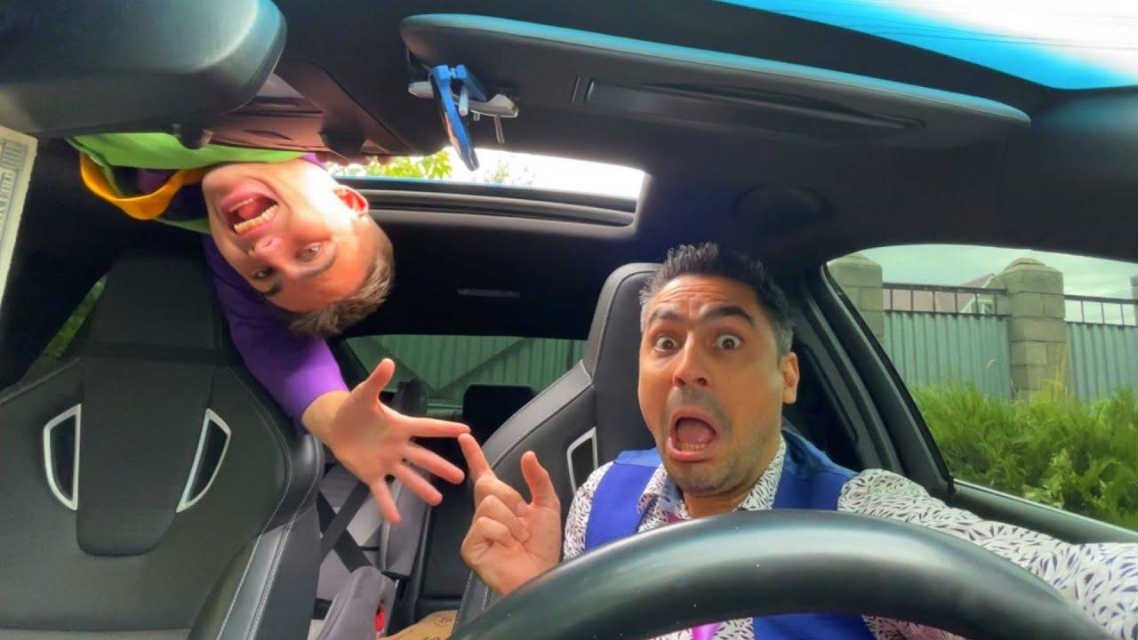 Thief Mr. Joe on Lamborghini Climbed on Roof & Stole Car VS Mr. Joker on Opel 13+