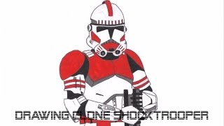 Drawing Clone Shock Trooper - Star Wars