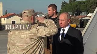 Putin besucht Russlands Luftwaffenstützpunkt in Syrien 11.12.2017