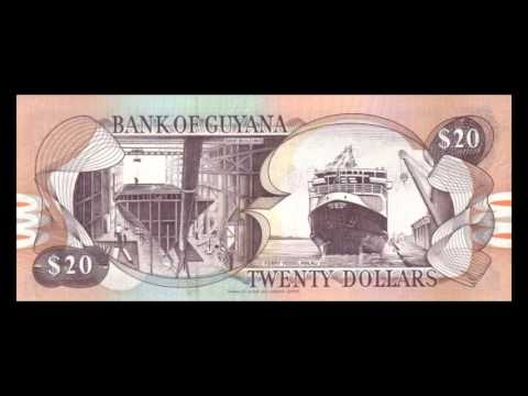All Guyanese Dollar Banknotes - 1996 To 1992 Issues