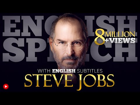 {LEARN ENGLISH} Steve Jobs: Stanford Commencement | SPEECH with BIG SUBTITLES