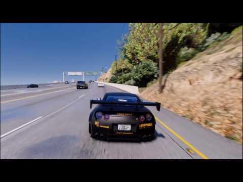 GTA 5 ULTRA REALISTIC GRAPHICS MODS 2017 | Liberty Walk GTR R-35