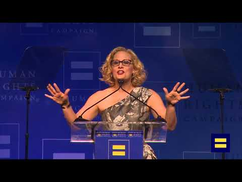Arizona Representative Kyrsten Sinema Speaks at HRC Los Angeles Dinner
