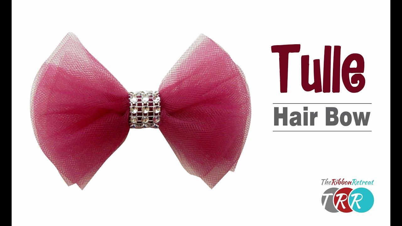 make tulle hair bow