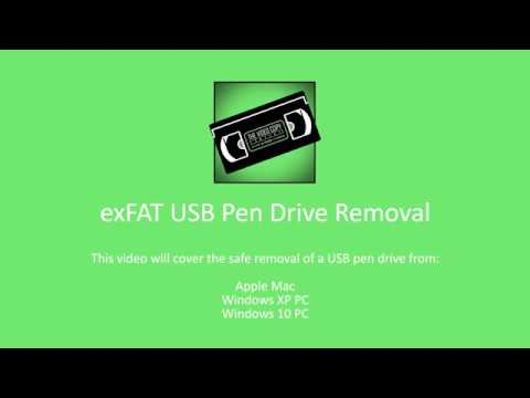How to Safely Remove an exFAT USB Flash Pen from a Mac and PC