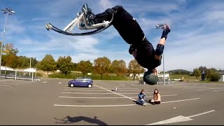 Échasses Urbaines / Jumping stilts / Powerbocking : Street freestyle & Flat 2014 thumbnail