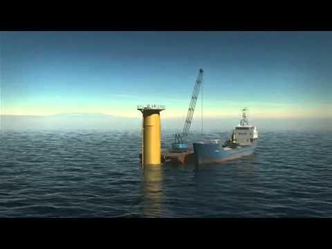 Montaje de un parque eólico offshore