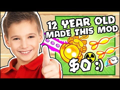 12 YEAR OLD MADE THIS MOD? THE $0 TOWER & $2399999 BANANA | Bloons TD Battles Hack/Mod (BTD Battles)