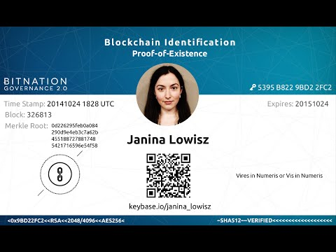 World's First Blockchain ID - LIVE Demonstration