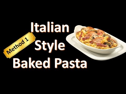 Red and white baked pasta recipe