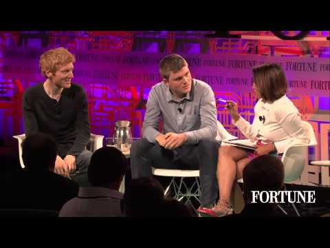 Patrick and John Collison of Stripe at Fortune's Brainstorm Tech