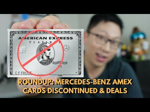 Mercedes-Benz Amex Cards Discontinued & Deals