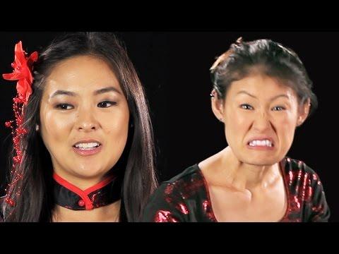 Japanese-American Women Try On Geisha Halloween Costumes