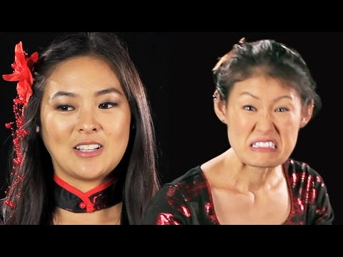 Japanese-American Women Try On Geisha Halloween Costumes