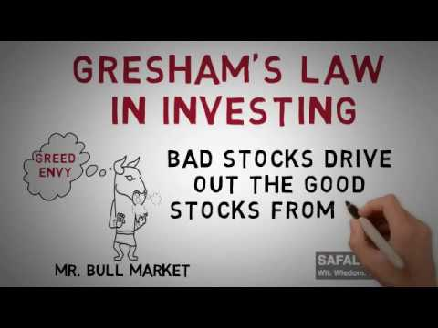 Investing Lessons from Gresham's Law