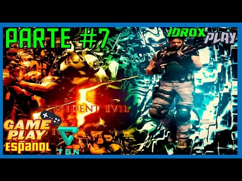 Resident Evil 5 Walkthrough Part 7 ( Normal Chapter 2-3 ) Español HD