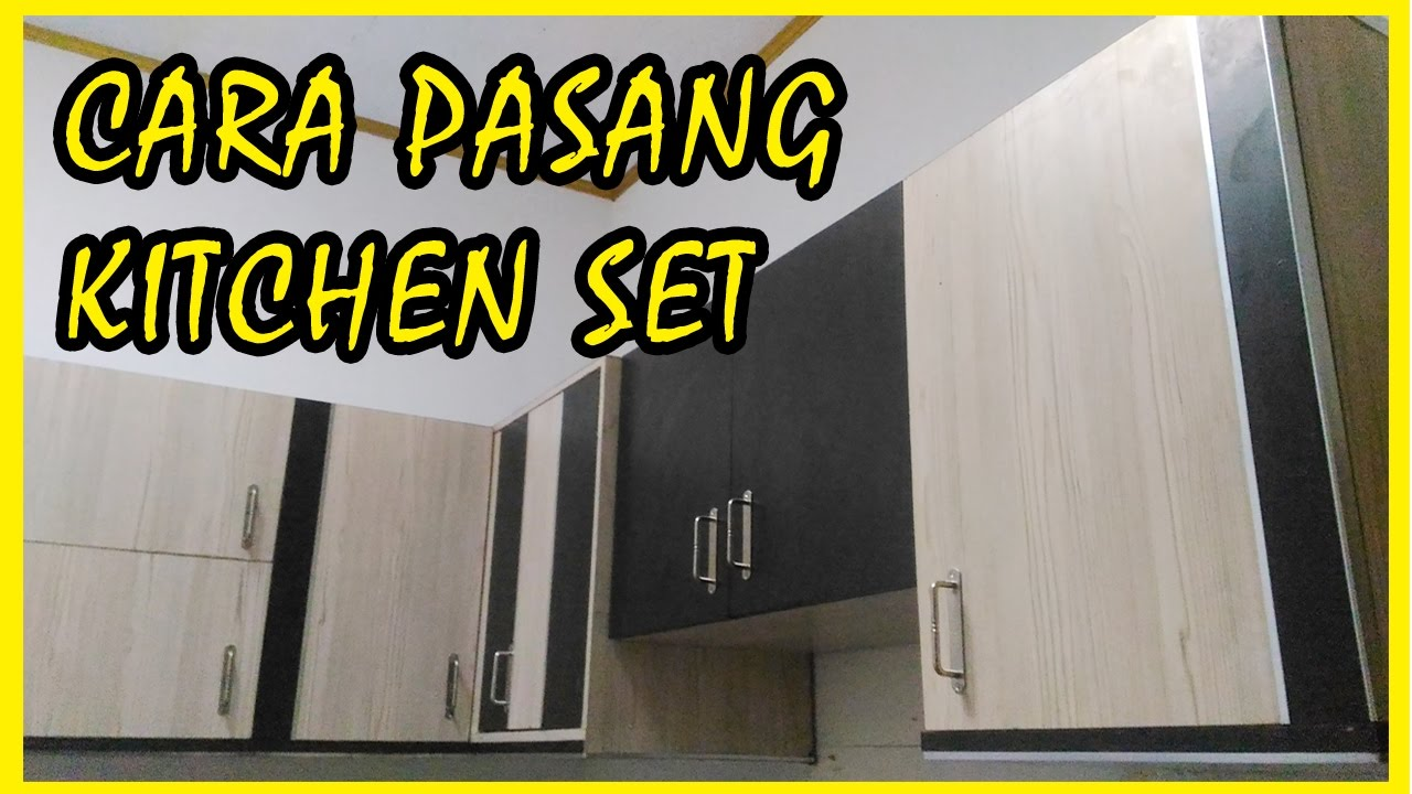 How to install kitchen set
