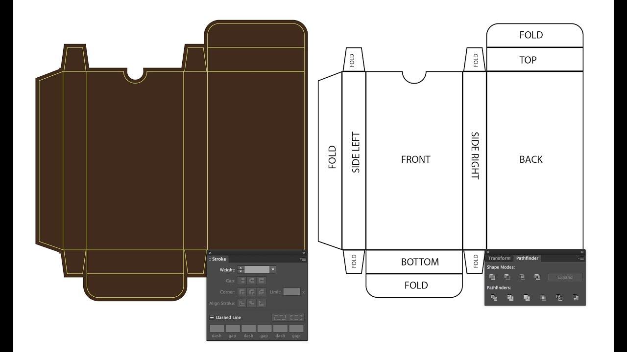 Making Dieline or Keyline in Adobe Illustrator Easy Method