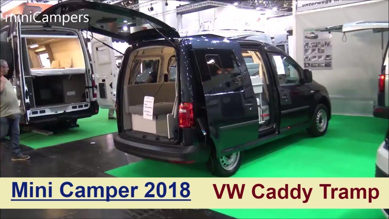 minicamper vw caddy tramp 2018 youtube. Black Bedroom Furniture Sets. Home Design Ideas