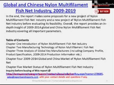 Global & China Nylon Multifilament Fish Net Industry Forecast Report, 2009-2019