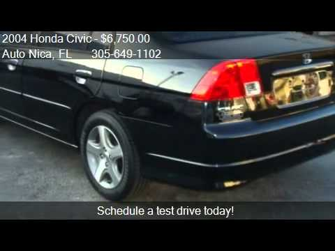 2004 Honda Civic EX sedan AT - for sale in Miami, FL 33135