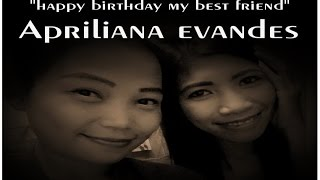 Happy birthday Apriliana Evandez