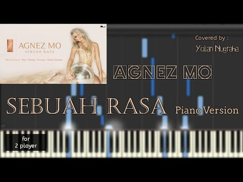 AgnezMo - Sebuah Rasa Instrumental Piano (Piano Sheet) [synthesia]