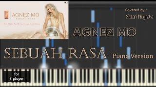 AgnezMo - Sebuah Rasa Instrumental Piano (Piano Sheet) [synthesia]