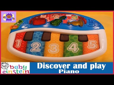 Baby Einstein discover and play musical toy in English, Spanish, and French