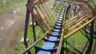 Bizarro Front Seat on-ride HD POV (with full audio) Six Flags Great Adventure